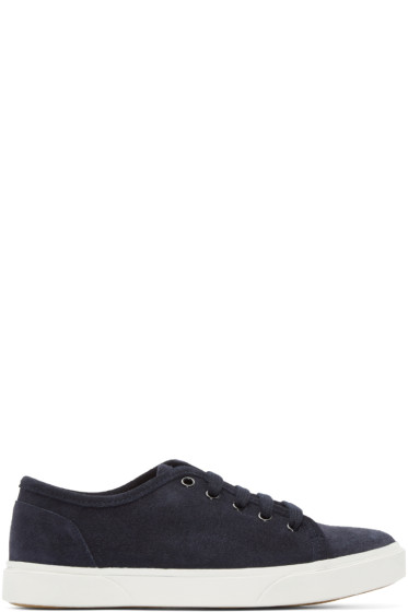 A.P.C. - Navy Suede Pam Tennis Sneakers