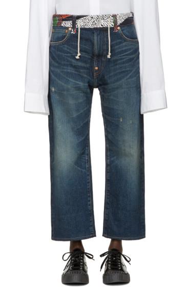 Junya Watanabe - Indigo Print Waist Jeans