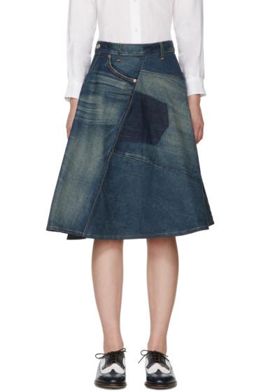 Junya Watanabe - Indigo Denim Patchwork Skirt