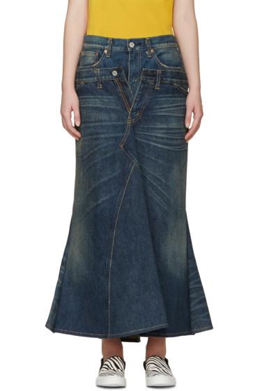 Junya Watanabe - Indio Denim Layered Skirt