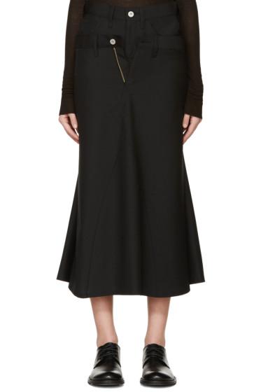 Junya Watanabe - Black Wool Double Skirt