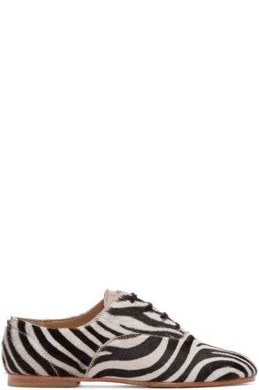 Junya Watanabe - Black & White Zebra Oxfords