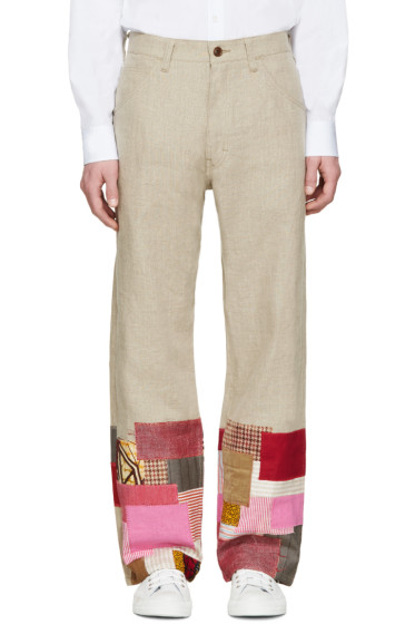 Junya Watanabe - Tan Linen Patchwork Levi's Edition Trousers