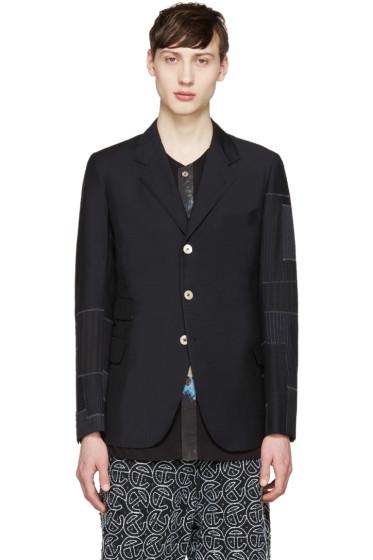 Junya Watanabe - Black Wool Patchwork Blazer