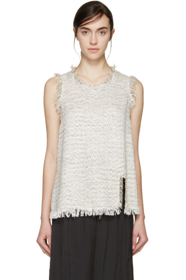 Lanvin - Beige Tweed Tank Top