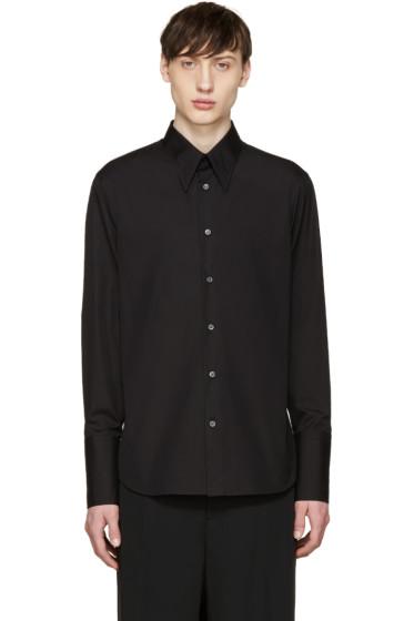 Alexander McQueen - Black Poplin Long Cuffs Shirt