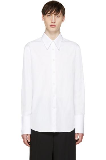 Alexander McQueen - White Poplin Long Cuffs Shirt