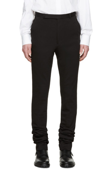 Paul Smith - Black Extra-Long Jersey Trousers