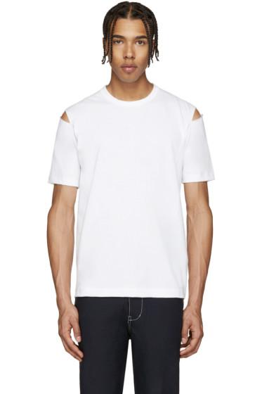Comme des Garçons Shirt - White Slits T-Shirt