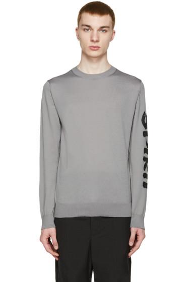 Comme des Garçons Shirt - Grey Printed Sleeve T-Shirt