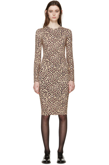 Givenchy - Beige Jaguar Print Dress