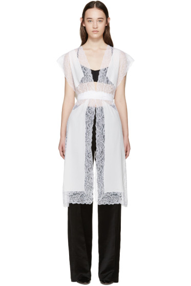 Givenchy - White Silk & Lace Vest