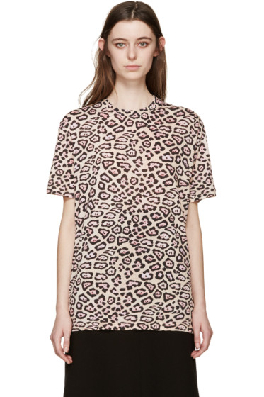 Givenchy - Beige Jaguar Print T-Shirt