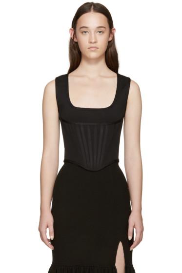 Givenchy - Black Knit Corset Tank Top