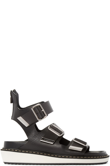 Givenchy - Black Multi-Strap Sandals