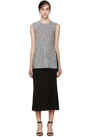 3.1 Phillip Lim - Silver Braided Knit Wrap Dress
