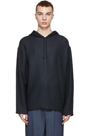 3.1 Phillip Lim - Navy Knit Poncho Sweater