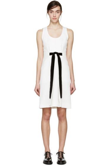 Proenza Schouler - White Jacquard Velvet Bow Dress