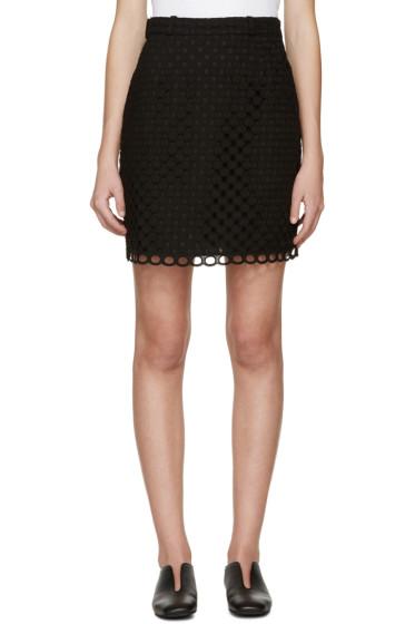 Carven - Black Ajoure Miniskirt
