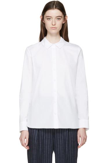 Carven - White Woven Shirt