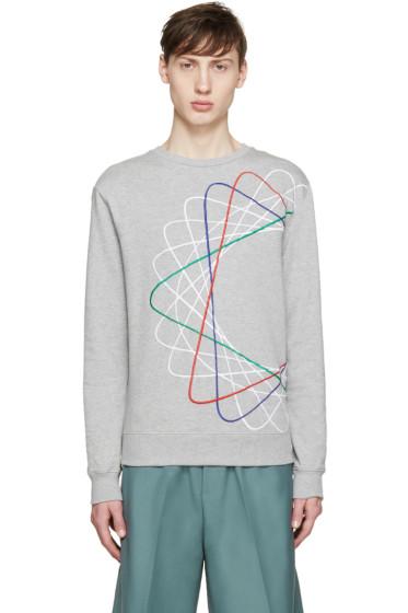 Carven - Grey & Multicolor Spiral Sweatshirt