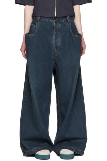 Juun.J - Indigo Wide-Leg Jeans