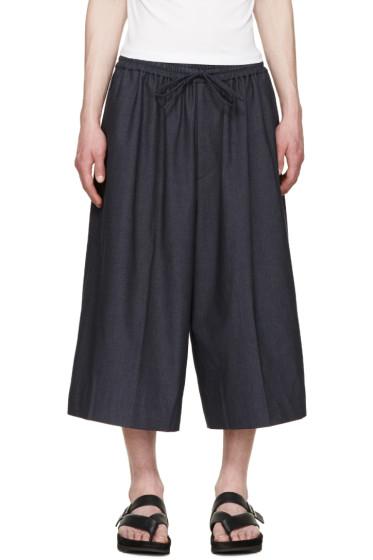 Juun.J - Navy Wide-Leg Trousers