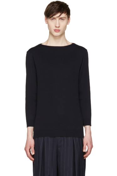 Juun.J - Navy Boatneck Sweater