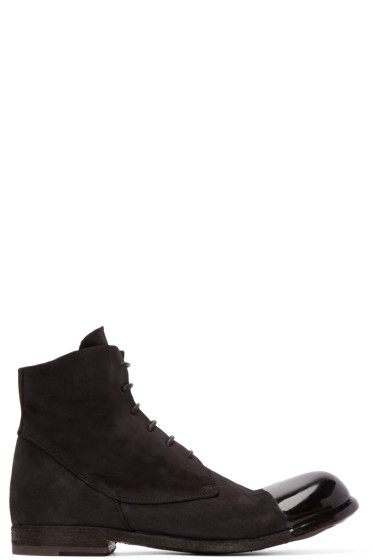 Officine Creative - Black Coated Toe Boots