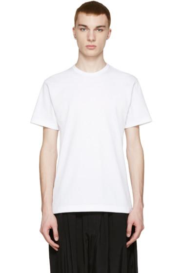 Comme des Garçons Homme Plus - White Back Slit T-Shirt