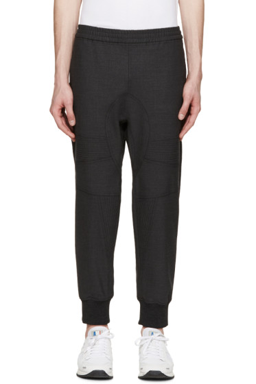 Neil Barrett - Grey Gabardine Biker Trousers