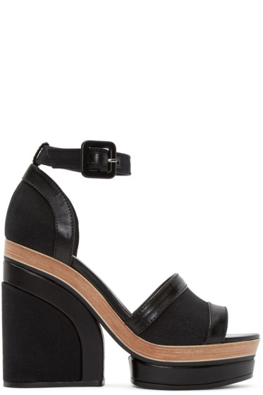 Pierre Hardy - Black Denim Charlotte Sun Sandals