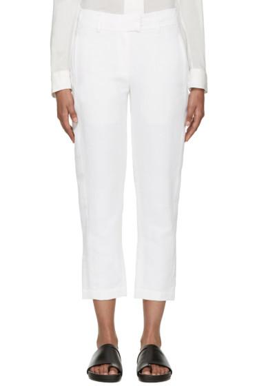 Ann Demeulemeester - White Linen Keating Trousers