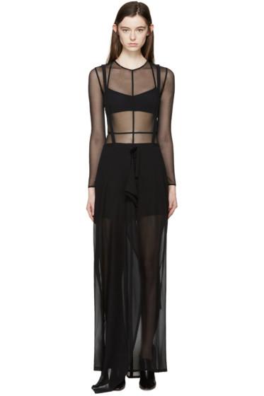 Ann Demeulemeester - Black Wrap Infinity Skirt