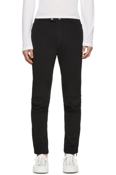Ann Demeulemeester - Black Biker Lounge Pants