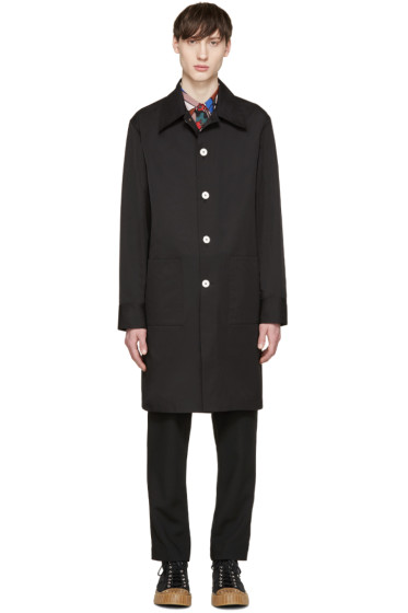 Marni - Black Poplin Vented Coat