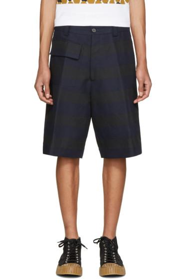 Marni - Navy & Black Striped Shorts