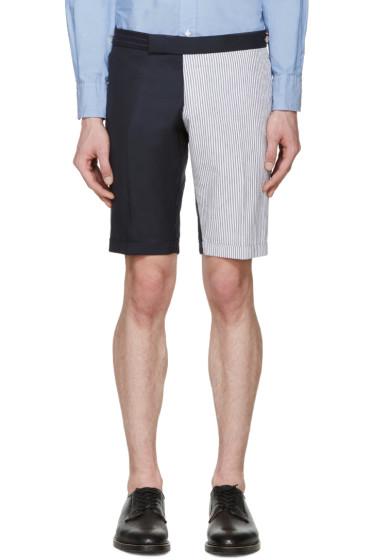 Thom Browne - Navy & White Funmix Shorts