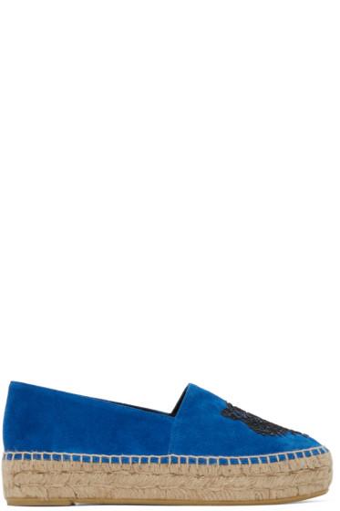 Kenzo - Blue Suede Tiger Espadrilles