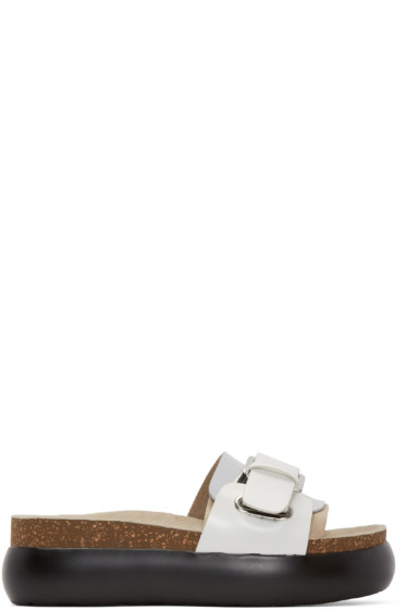 Kenzo - Silver Slip-On Sandals