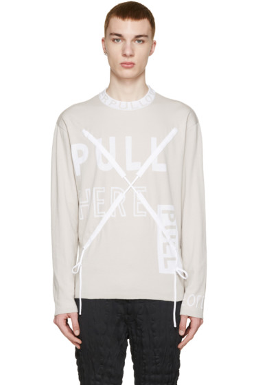 Kenzo - Tan 'Pull Here' Pullover
