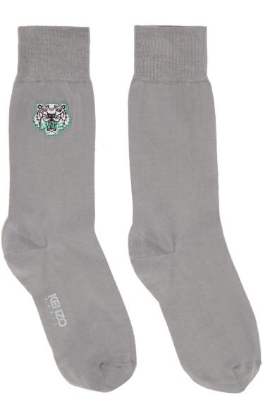 Kenzo - Grey Tiger Socks