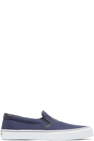 Kenzo - Navy Tiger Slip-On Sneakers