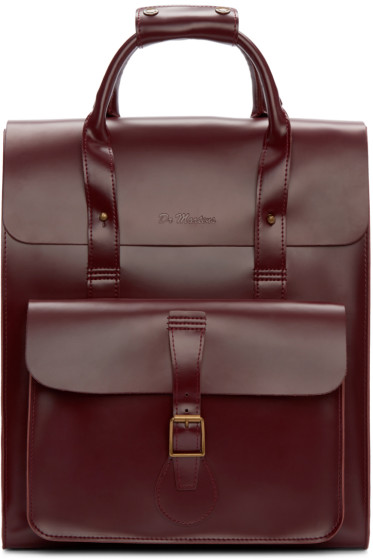 Dr. Martens - Red Leather Backpack