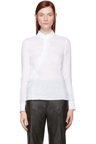 Altuzarra - White Linen Martial Shirt