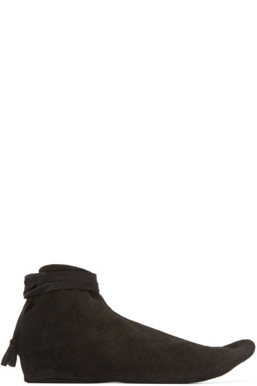Sasquatchfabrix - Black Suede Tabi Boots