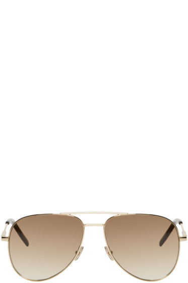 Saint Laurent - Gold Aviator Classic 11 Sunglasses