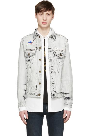 Saint Laurent - Grey Bleached Denim Jacket