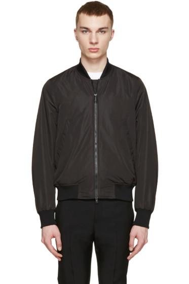 PS by Paul Smith - Black Nylon Coach Bomber Jacket