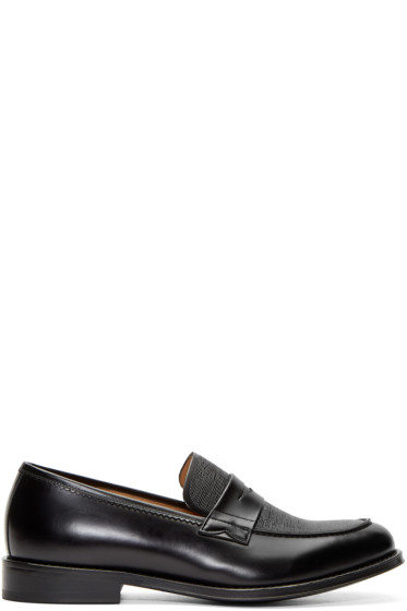 PS by Paul Smith - Black Leather Gifford Loafers